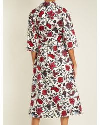 Diane von Furstenberg - White Canton Print Stretch Cotton Dress - Lyst