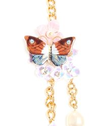 Dolce & Gabbana - Multicolor Hydrangea And Butterfly Double-strand Necklace - Lyst