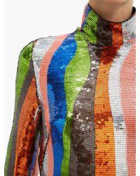 Halpern スパンコール ジャンプスーツ Multicolor