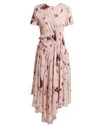 Preen Line Lois ワイルドフラワープリント ギャザードレス Pink