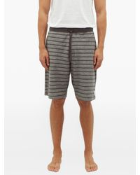 Paul Smith Gray Striped Cotton-jersey Track Shorts for men