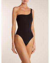 Mara Hoffman - Black Cher One-shoulder Swimsuit - Lyst
