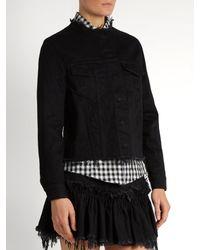 Marques'Almeida Black Frayed-edge Denim Jacket