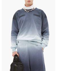 メンズ Ambush グラデーション コットンスウェットシャツ Blue