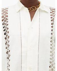 Bode リネンキャンバスシャツ White