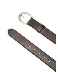 Prada Brown Tri Colour Calf Hair Belt for men