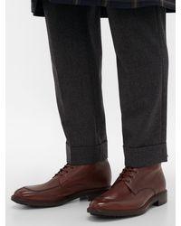 Paul Smith Multicolor Trent Signature-stripe Trim Leather Boots for men