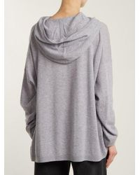 Acne Gray Hooded Wool Sweater