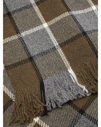 Écharpe en laine à carreaux Margaret Howell pour homme en coloris Gray