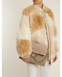 Chloé | Gray Faye Medium Suede And Leather Shoulder Bag | Lyst