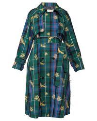 Trench-coat à carreaux en jacquard Masami Golden Goose Deluxe Brand en coloris Blue