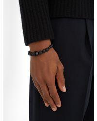 Alexander McQueen - Black Skull Beaded Bracelet - Lyst