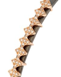 Diane Kordas Gray Diamond, Rose-gold & Titanium Heartbeat Cuff