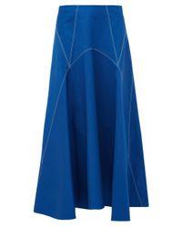 Colville パネル コットンツイルスカート Blue