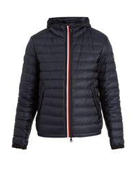 Moncler - Blue Morvan Quilted-down Hooded Jacket for Men - Lyst