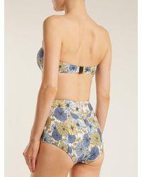 Bikini à nouer à imprimé floral Poppy Lisa Marie Fernandez en coloris Blue