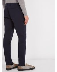 Acne - Blue Ayan Satin Cotton-blend Chino Trousers for Men - Lyst