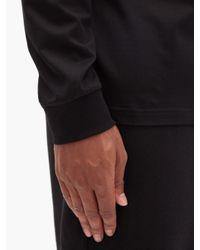 メンズ Burberry モノグラム コットン ロングスリーブtシャツ Black