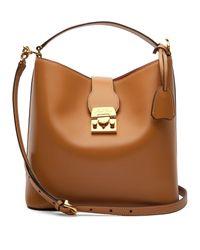 Mark Cross Brown Murphy Smooth Leather Bucket Bag