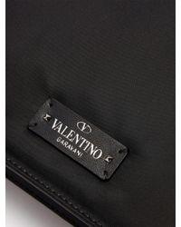 Valentino Black Rockstud Embellished Nylon Pouch for men