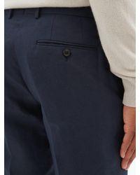 メンズ Dunhill ケンジントン リネンスリムパンツ Blue