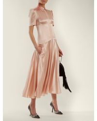 Hillier Bartley Pink Plimpton Short-sleeve Silk Dress