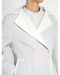 Sies Marjan Blue Double-breasted Wool-blend Coat