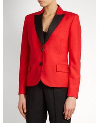 Racil - - Mick Single Breasted Wool Blend Jacket - Womens - Red - Lyst