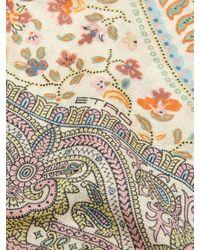 Etro White Paisley-print Silk Scarf