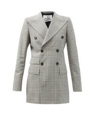 Vivienne Westwood チェックウール ダブルジャケット Gray