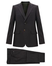 メンズ Gucci ロンドン ウールブレンド シングルスーツ Gray