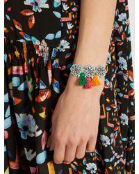 Shourouk - Blue Hippie Flower Bracelet - Lyst