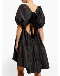 Robe courte en taffetas à manches bouffantes Ami CECILIE BAHNSEN en coloris Black