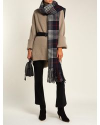 Isabel Marant Blue Checked Cashmere Scarf
