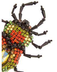 Gucci - Multicolor Bug Crystal-embellished Brooch - Lyst