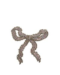 Gucci | Multicolor Bow Crystal-embellished Brooch | Lyst