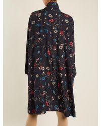 Balenciaga Blue Vareuse Dress
