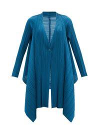 Pleats Please Issey Miyake テクニカルプリーツ シングルジャケット Blue