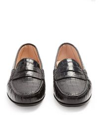 Tod's Black Gomma Leather Loafers