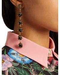 Gucci - Metallic Tiger-head Spike-embellished Earrings - Lyst