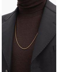 メンズ Fernando Jorge Thick 18kゴールドスネークチェーンネックレス Metallic