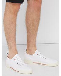 Baskets en toile blanches Cupsole Thom Browne pour homme en coloris White