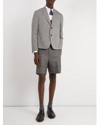 Thom Browne - Gray Shrunken Sack Wool Blazer for Men - Lyst