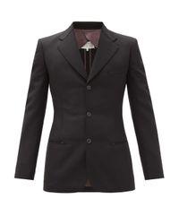 メンズ Maison Margiela タックステッチ ウールモヘア シングルスーツ Black