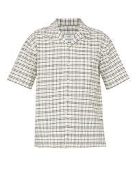 AMI Multicolor Checked Cotton Shirt for men