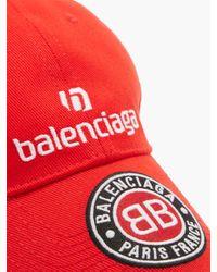 Balenciaga Logo-embroidered Cotton-twill Cap for men