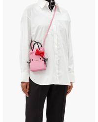 Balenciaga ショッピング フォンホルダー ハローキティ レザーバッグ Pink