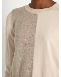 Giambattista Valli - Blue Mohair And Wool-blend Contrast-knit Sweater - Lyst