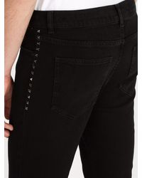Valentino Black Rockstud Untitled #6 Slim Leg Jeans for men