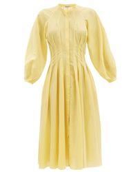 Three Graces London ヴァレライン コットンガーゼシャツドレス Yellow